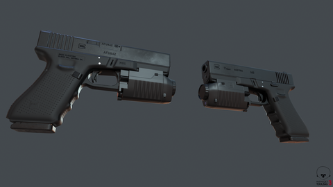 G17 w/ Lasers Attached, Side Views